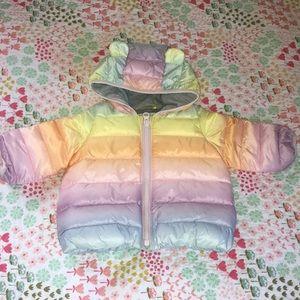 Baby Gap 0-6 month Primaloft Rainbow Puffer🌈